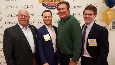 Hy and Rich Goldber, Vince Papale, Matt Bowyer